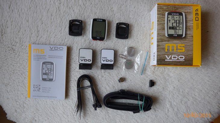 b0bffb82b3 prodám 1 rok používaný VDO M5 WL bezdrátový s měření tepu. Hrudní pás +  držák na řidítka na 2 kola + snímače na 2 kola. +3× náhradní baterie CR  2450. celkem ...
