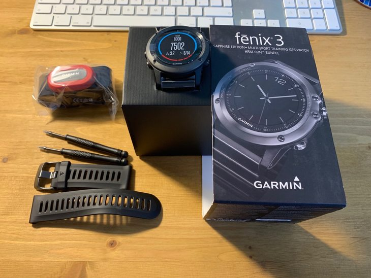 Prodám: Garmin Fenix kovový řemínek - bazar - Bike-forum cz